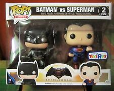 Funko Pop! Toys R Us Exclusive Batman vs Superman Pack MINT Rare HTF