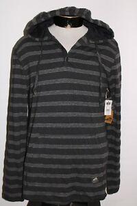 NEW NWT VANS Mens Large L Striped hooded/Hoodie Sweatshirt