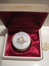 CRUMMLES ENAMEL BOX  MR JEREMY FISHER BEATRIX POTTER FROG FISHING LILY PAD BOXED