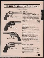 2001 SMITH & WESSON Model 617, Military & Police 10, 64 & 65 Revolver AD