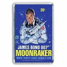 RETRO ROGER MOORE -JAMES BOND- MOONRAKER Bubble gum ART: JUMBO FRIDGE MAGNET