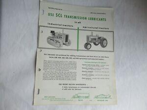 John Deere 320 420 430 435 tractor transmission lubricants spec sheet brochure