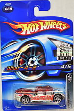 HOT WHEELS 2006 CHROME BURNEZ WHAT-4-2 #069 RED FACTORY SEALED