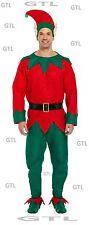 New Elf Costume Men's Adult Christmas Fancy Dress Santa Helper Xmas Male Costume