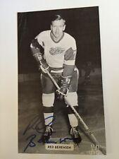 Red Berenson SIGNED J.D.McCarthy Detroit Red Wings Hockey Postcard,Wolverines