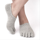 6 Pack Men's Cotton Invisible five finger toe Socks Lot Ankle Solid Soft Low Cut