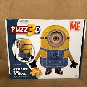 Beginner Puzz 3D Stuart Minion Despicable Me Puzzle Toys New open box 56 figure