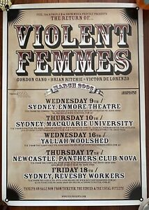 Violent Femmes March 2005 Australian Tour Poster. A2 Size