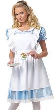 ALICE nel Paese delle Meraviglie Lungo Gon na Favola Costume Medium Taglia 10 - 12