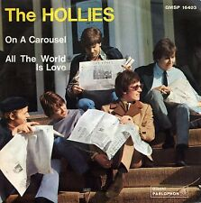 """THE HOLLIES ON A CAROUSEL ALL THE WORLD IS LOVE 7"""" ITALY"""