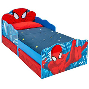 Hellohome 509 SDR Spiderman Children's Bed with Bright Eyes and Substrate Wood,
