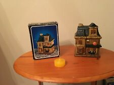 Collectible Ceramic House - Halloween Candle House - New In Box - Free Shipping