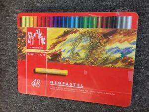 Neopastel tin of 48 caran d'ache oil pastels artist swiss art