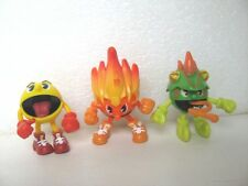 LOT DE 3 FIGURINES PAC MAN 5 à 6  CM FIGURE G8