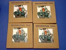 Norman Rockwell SPHINX Stereoscope Decorative Tile / Coaster x 4 - Only $2.50 ea