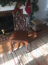 Antique Mahogany Stained Oak Metamorphic Chair/Library Ladder (Rare!)