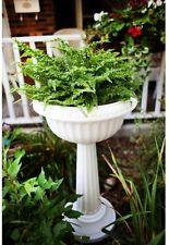 """Greek Urn Planter Pedestal Plastic White 32"""" Tall Home Outdoor Garden Decorative"""