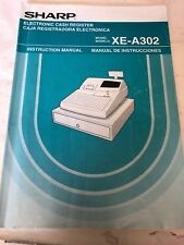 Sharp XE-A302 Cash Register Manual Only