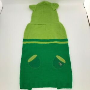 NWT Dog Green Hoodie Knit Sweater - Size XL Extra Large