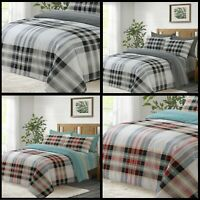 Stripped Cotton Duvet Set Quilted Bed Covers Double King Size 3 pcs Bedding Sets
