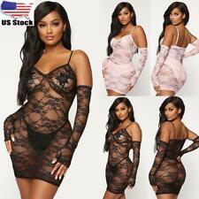 Women Ladies Lingerie Dress Lace Babydoll See Through G-string Underwear Nighty