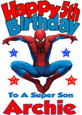 Personalised Birthday Card 'SPIDERMAN' ANY NAME,AGE,RELATION - NEW!