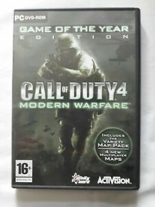 Call Of Duty 4 Modern Warfare Game of the year edition PC game ACTIVISION...