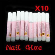 10 x 2g ProfessionaL Nail False Rhinestone Art Tips Acrylic Strong Adhesive Glue