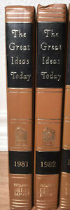 The Great Ideas Today  Britannica Great Books  2 VOLUMES 1981 & 1982