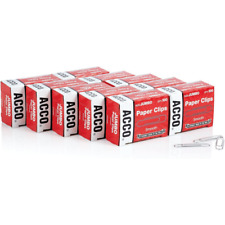 Acco Paper Clips Jumbo Smooth Economy 10 Boxes 100box 72580silver Usa