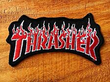 THRASHER Patch Iron on Decorate Skateboard Sprots Extreme Embroidered sew