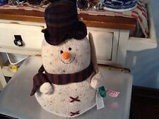 "Russ Topper The Christmas Sampler  Snowman Item With Tag 14"" Tall"