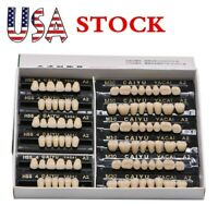 USA 84pcs Dental Denture Acrylic Resin Teeth Teeth Upper Lower Shade 23# A2