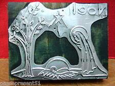 hübscher antik tampon, Noël, Jungfrau, Jesus, Metall und Holz