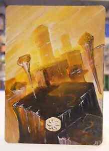 MTG Altered Extended Full Art PIANURA PLAINS N° 230 Zendikar ITA Hand Painted IT