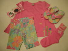 NWT Gymboree Girls Butterfly Flower Top Short Sunglass 6pcs Outfits Set Lot 4