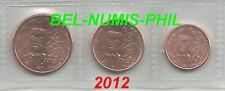 FRANKRIJK 2012 - 1 cent - 2 cent en 5 cent - uit de rol - UNC !!!