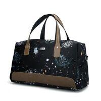 Women Casual Travel Handbags Waterproof Oxford Portable Print Large Weekend Bags