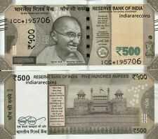 INDIA 500 Rs Star Replacement Patel 2018 1CC M Inset Paper Money Bank Note UNC