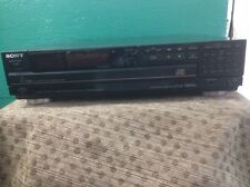 VIntage Sony CDP-C7ESD Compact Disc Multi Player Changer 5 CD -PARTS OR REPAIR