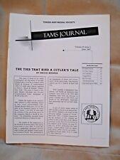 TAMS Journal Book - June 2007 - Twigg Medal, Striker Token, Montana
