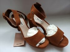 Brand new authentic Mui Mui suede brown ladies sandals Sz 7.5