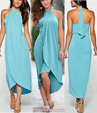 Weichfliessendes Kleid Abendkleid Strandkleid Gr.40/42 Neckholder Neu 931970