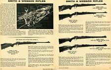 1971 2 Page Print Ad of Smith & Wesson S&W Model A B C D & E High-Powered Rifle