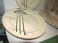 Set of SIX Art Deco Vintage American Chinaware Corp Salad or Bread Plates