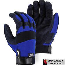 Mechanics Work Gloves Synthetic Leather Amorskin Majestic Glove 2137bl Sm 2xl