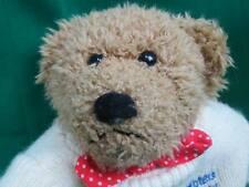MORVAN HOTELS OF JERSEY WHITE SWEATER SHAGGY BROWN TEDDY BEAR PLUSH STUFFED ANIM