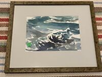 SUSAN SHATTER ORIGINAL WATERCOLOR 2002, Nicely Framed, Excellent Condition
