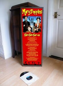 MARY POPPINS CHIM CHIM CHIMINY PROMOTIONAL POSTER LYRIC SHEET,POP,80'S,TV,