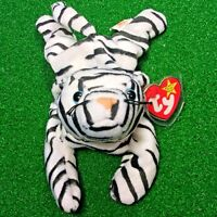 RARE Blizzard The White Tiger 1995 Ty Beanie Baby Plush Toy NEW RETIRED & Errors
